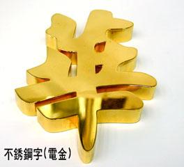 不銹鋼電金字